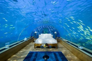 underwater bedroom in Fiji
