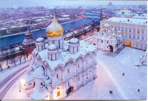 Snow in russia